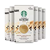 Starbucks VIA Instant Coffee Flavored Packets — White Chocolate Mocha Latte — 6 boxes (30...