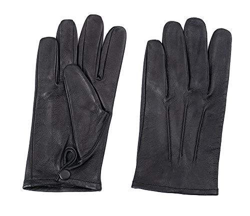 Men's Dress Leather Gloves (Large, Black)