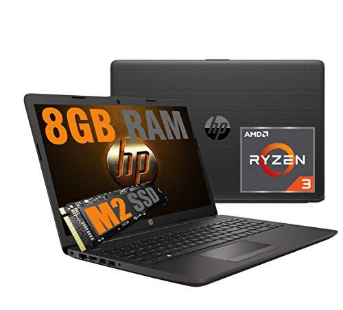 """Ordenador portátil HP 15,6"""" Pantalla LED HD AG / Cpu Amd R3 Quad Core Ryzen 3 3200U hasta 3,5 GHz / Vga Radeon Vega 3 / SSD M2 256 GB / RAM 8 GB DDR4 / web cam / 3 USB HDMI WiFi Bluetooth / Windows 10"""