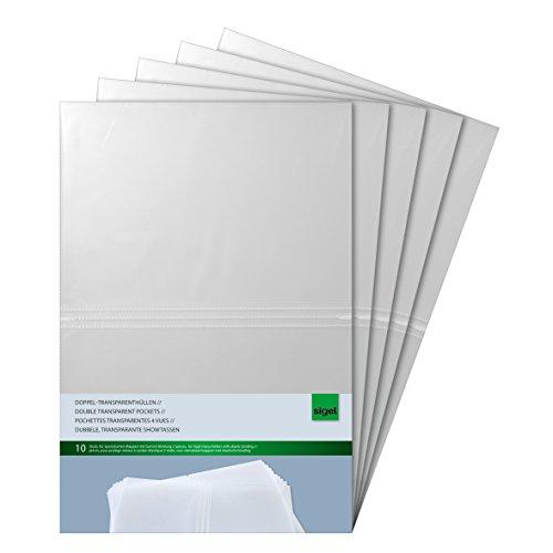 Sigel SM180/5 - Portafolio de plástico (50 unidades), transparente