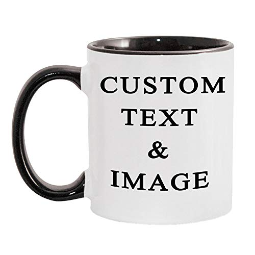 Customized Photo Mug with Personalized Text Upload Your Image with Different Designs