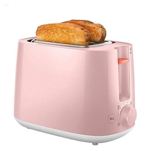 DIDIOI Brotbackmaschine, Toaster, Toaster Fahrer vollautomatisch nach Hause Toaster Einbau-Toaster mit Staubschutz rosa