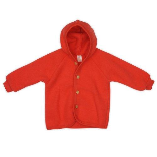 Engel Engel Baby-Jacke, Farbe: Hibiscus - 50/56 Wollfleece 100% Schurwolle