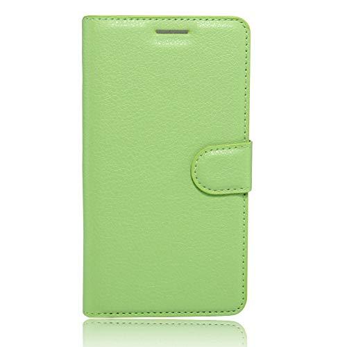 Sangrl Leder Lederhülle Schutzhülle Für LG K5, Wallet Tasche Für LG K5, mit Halterungsfunktion Kartenfächer Flip Hülle Grün