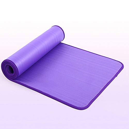 Tapis de Yoga Tapis De Yoga Antidérapant Nrb De Haute Qualité pour La Remise en Forme De l'environnement Pilates Esterilla Gym Tapis d'exercice avec Bandage 183 Cm * 61 Cm * 10 Mm Violet