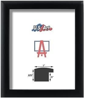 US Art Frames 12x30 Black 1 Inch, Nugget Solid Poplar Hardwood Picture Poster Frame