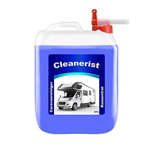 Die Seifenblase 5 Liter Cleanerist AP01 Caravanreiniger Konzentrat inkl. Sabeu FLUXX® Auslaufhahn - spezieller Reiniger für Caravan, Wohnwagen, Wohnmobil und Reisemobil (4,78 Euro/Liter)