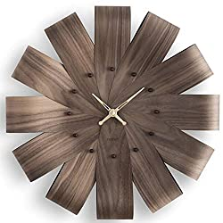 NOMON Ciclo Wall Clock - Walnut/Brass