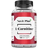 L-CARNITINA PURA | Pérdida de peso y potente quemador de grasa deportivo | Código Nacional Farmacia 194556.3 | Aporte de energía, resistencia y recuperación | 120 Cápsulas | Navit Plus