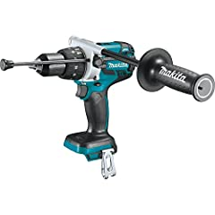 """BL Brushless Motor delivers 1,090 in.lbs. of Max Torque Ergonomic design at only 8-1/8"""" long and weighs only 5.9 lbs. with battery (battery not included) 3-stage L.E.D. gauge indicates battery charge level. All metal 1/2 inch self ratcheting chuck fo..."""