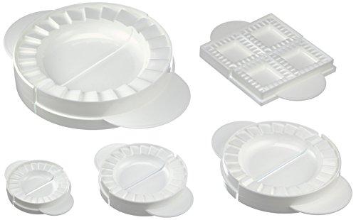Wenko Teig- & Maultaschenformen - mit Rezepten, 5-teilig, Kunststoff - Polypropylen, weiß