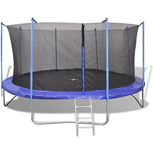 vidaXL Trampolino Tappeto Elastico 5pz 4,57m Gioco Saltare da Giardino Bambini