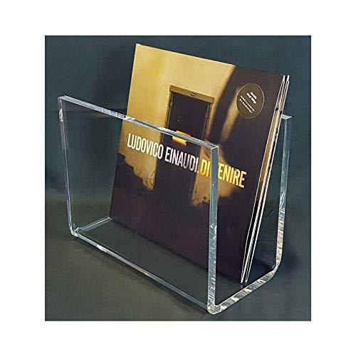 Cavinato acrylics Portadischi vinili in plexiglass Trasparente Alto Spessore 1 cm. Design