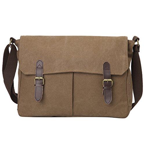 Eshow schoudertas, laptoptas, klein, voor dames en heren, 14 inch, met vakje voor mobiele telefoon, voor kantoor, werk, werk, bibliotheek, universiteit