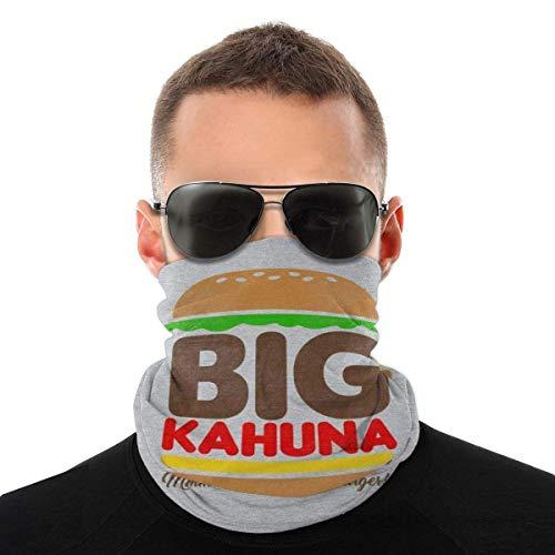 zzzswbl Polaina De Cuello Big Kahuna Burger Tarantino Protección Solar Actividades Al Aire Libre Ciclismo Sin Costuras Moda Transpirable Colorida Bufanda Mágica para Hombres Bufanda Multi