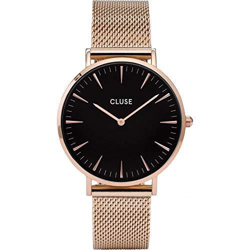 Cluse Armbanduhr La Bohème Mesh Rose Gold/Black
