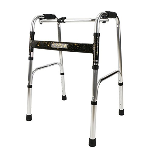 ZhuFengshop Walking Aid rollator Anziani Walker Disabled A Quattro poten van aluminium inklapbaar Anziani Handicapp