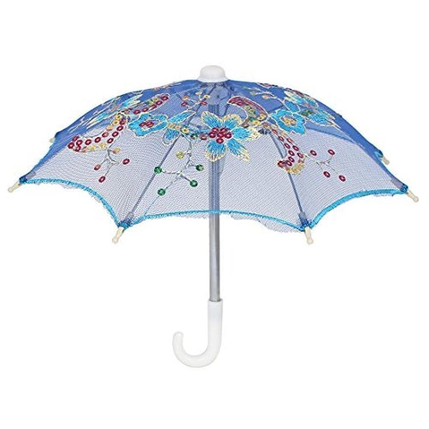 EbuyChX Flower Pattern kislap sa bestido Accent Party Mini Lace Umbrella Royal Blue