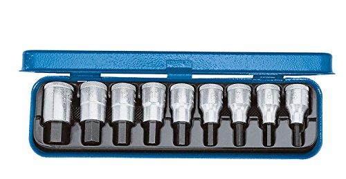 GEDORE Schraubendreher-Satz 1/2 Zoll 9-Teilig, Innen-6-kant 5-17 mm, 1 Stück, IN 19 PM