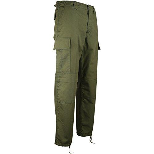 Kombat UK Herren M65BDU Ripstop Hosen,grün,34 EU