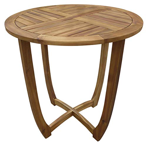 Christopher Knight Home Carina Accent Round Table, Teak Finish