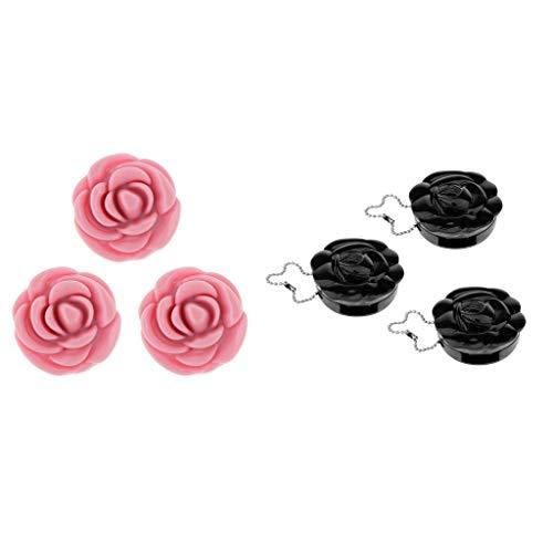 Homyl 6x Pot Vide Forme de Rose Rechargeable à Poudre Cosmétique Baume à Lèvres Outil Accessoire pour Voyage pour Femme Fille