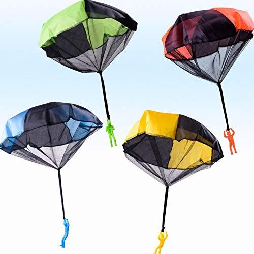Yoouo Fallschirm Spielzeug Kinder, 4 Stück Fallschirmspringer Outdoor Flugspielzeug Geschenk Für Kinder