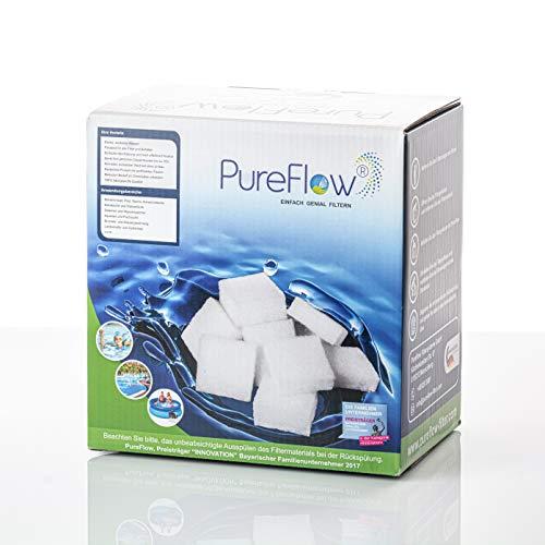 PureFlow 3D Filtercubes - 320g hochwirksamer Poolfilter, Filtermaterial - Ersetzt 25kg Filtersand - für Pool, Whirpool - Ersatz für Filterballs Sandfilter und Glasfilter, High-Tech Poolfilter