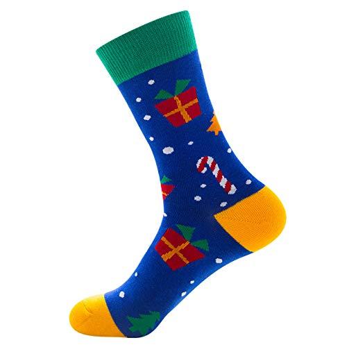 MARIJEE Calcetines de Navidad neutros   Calcetines de Papá Noel   Medias de alce   Calidez fuerte   Gran regalo para tus amigos o para ti mismo   Calcetines de buen aspecto y cómodos