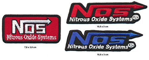 Jeep NOS Aufnäher Aufbügler Patch 3 Stück Nitrous Oxide Systems Auto Tuning Racing TURBOVERSAND