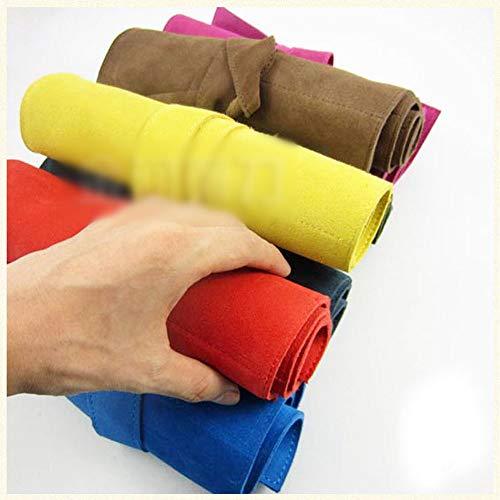 SHAOXI Pet Tool Roll Bag Flip Sac Pliant Pochette De Coiffure Ciseaux en Cuir Roll Bag Cisailles et Ciseaux (Color : Red)