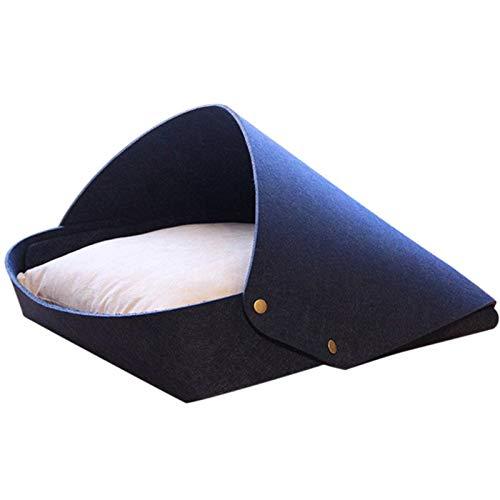 unknows Rcevbocc - Cama de fieltro para gatos, nido extraíble para mascotas, casa de gatitos con almohada para zona de dormir, para perros pequeños, medianos y gatitos