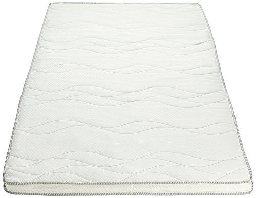 Amazon Basics - Colchoncillo de espuma viscoelástica con funda acolchada y pantografia bugnata (90 x 190 cm)