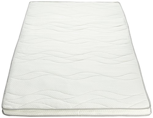 AmazonBasics Memory Foam Quilted Mattress Topper (Profile/Egg-Shell), Double