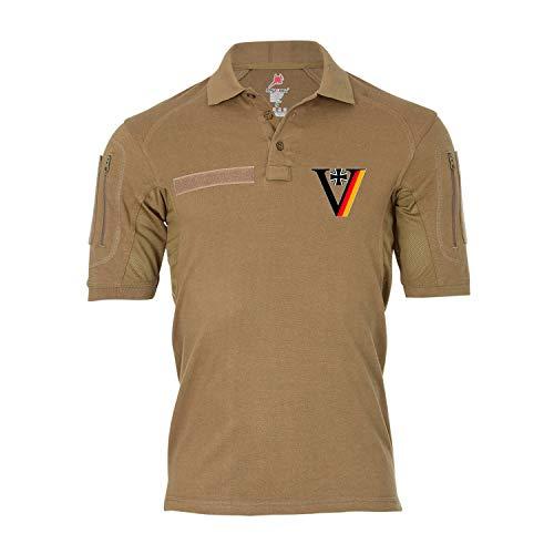 #34294 Tactical Polo Veteran Bundeswehr MALI Kosovo Afghanistan T-shirt - Beige - Medium