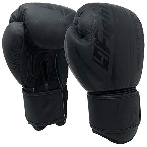 4Fighter Leder Boxhandschuhe Black King, Unzen:14 oz