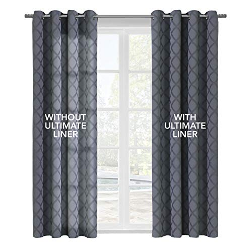 Thermalogic Ultimate Thermal Energy Saving Blackout Window Curtain Liner, 45' X 77', White