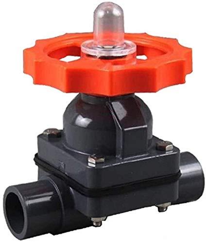 Accesorios roscados 1 unids válvula de diafragma de PVC, OD 20 ~ 110 mm Válvula de diafragma de plástico UPVC, adaptador de riego de tanque de acuario Conectores de agua de jardín de jardín industrial