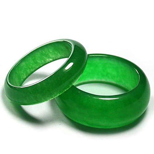 Liangliang988 Boutique Ring für Damen und Herren, natürliches Malay-Jade, grüner Jade-Jade-Schmuck-Geschenk, verschiedene Größen erhältlich