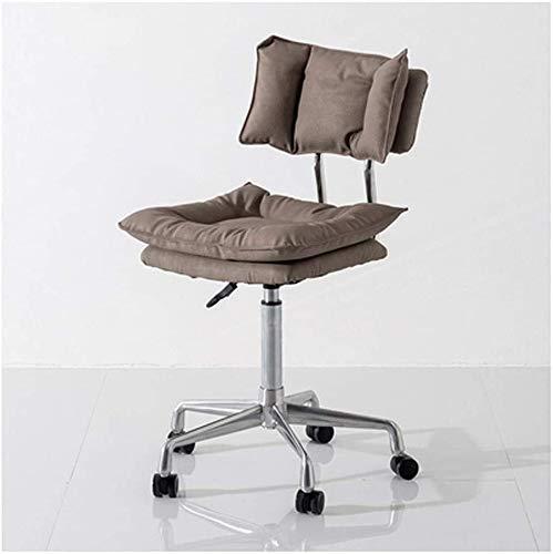 Tägliche Ausrüstung Bürostühle Moderner Stoff Bürostuhl mit niedriger Rückenlehne und höhenverstellbarer Drehstuhl Schreibtischstuhl für Empfangskonferenzraum Bürodrehstuhl (Farbe: Braun)