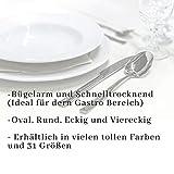 JEMIDI Tischdecke Ornamente Seidenglanz Edel Tisch Decke Tafeldecke 31 Größen und 7 Farben Creme Oval 130×220 - 7