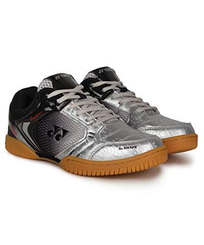 Yonex LEGEND KING 68 Badminton Shoes ( Silver/Black, 9 UK )
