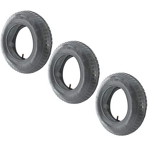 SPARES2GO Kruiwagen wiel band en binnenste buis (3.50-8, 35PSi, Pack van 3)
