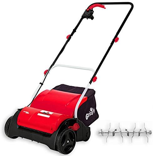 Grizzly Tools Elektro-Vertikutierer mit 1200 Watt Motor, 31 cm Arbeitsbreite, Sicherheitsschalter, inklusive Fangsack