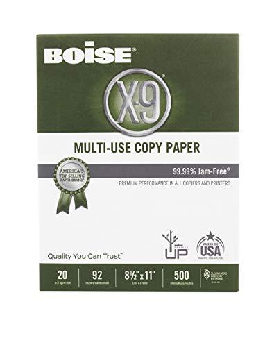 "BOISE X-9 Multi-Use Copy Paper, 8.5"" x 11"" Letter, 92 Bright White, 20 lb., 10 Ream Carton (5,000 Sheets) Photo #3"