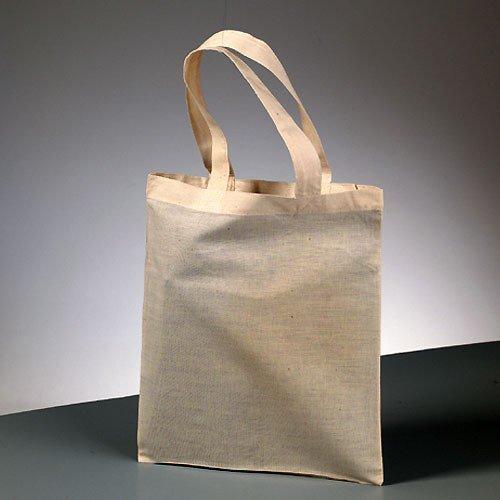 Inconnu Efco Fil Transporteur Sac avec anses Courtes, Coton, Naturel, 28 x 28 x 24 cm