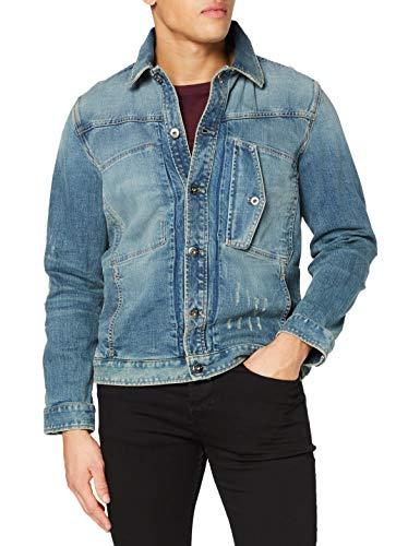 G-STAR RAW Mens Scutar Slim JKT C Denim Jacket, Faded Atlas Restored B767-B135, Large
