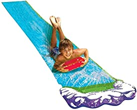 Yunhigh Breakthrough Blast Water Slide, Splash Sprint Backyard Waterslide Toy, Connect to Faucet, Lawn Summer Water Toy for Kids Child 3+ (Single Slide) 188''X27.55''