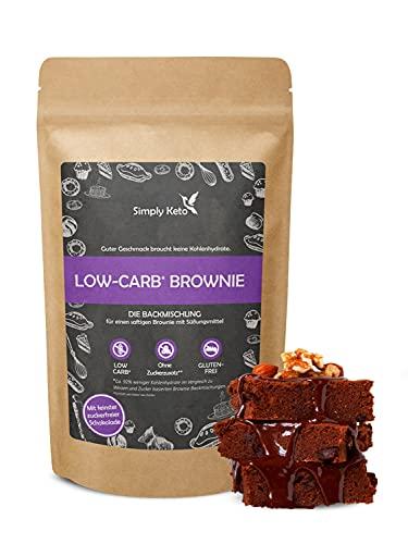 Simply Keto Low Carb Brownie Backmischung ohne Zuckerzusatz - Brownie Mix für eine Brownie Backform, einen Tortenboden oder 12 Muffins - 100{c144db273fc3655fce565a58282271a2c19008dc7ecfc1688f7edce301d9bbfb} Low-Carb & Keto - Sojafrei & Glutenfrei