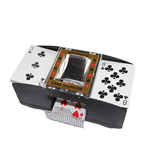 Galapara Mélangeur de Cartes Automatique à 2 ponts Cartes à Jouer automatiques Jeux de mélangeur de mélangeur Distributeur de Machine de trieuse de Poker pour Les Voyages Fête de Noël à Piles